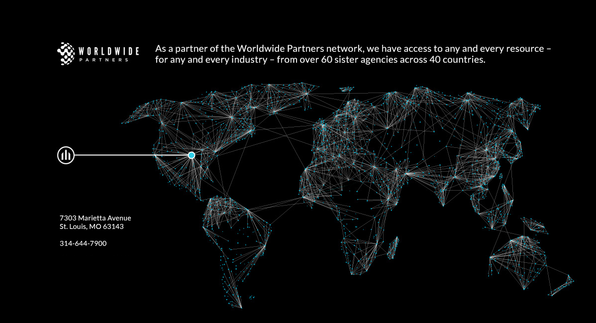 As a partner of WorldWide Partners network, we have access to any and every resource - for any and every industry- from over 60 sister agencies across 40 contries